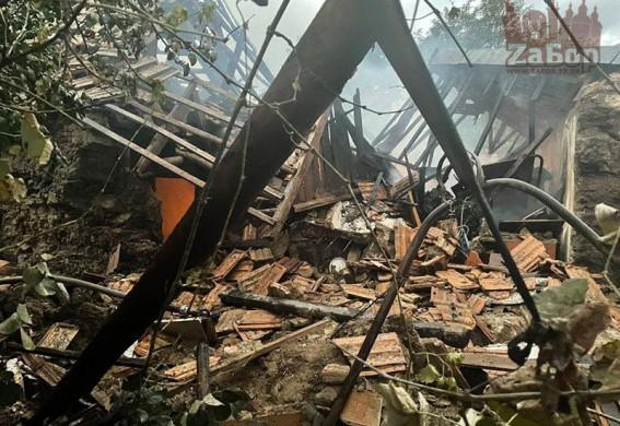В Запорожской области взорвался еще один дом (фото)