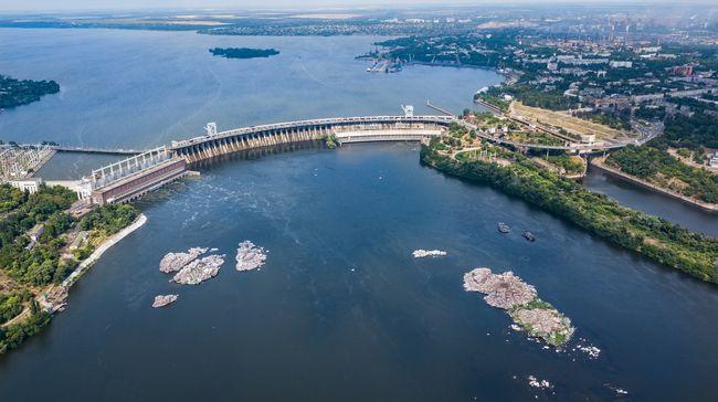 Река Днепр в Запорожье